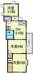 ハイツ宏栄[2階]の間取り