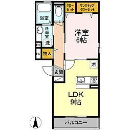 東京都大田区蒲田2丁目の賃貸アパートの間取り
