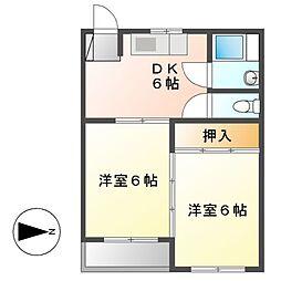 明治第1ビル[2階]の間取り
