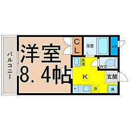 愛知県名古屋市北区杉栄町3丁目の賃貸マンションの間取り