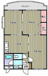 スイートホーム中島[103号室]の間取り