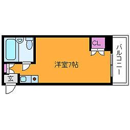 藤井三国マンション[4階]の間取り