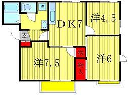サイドコーポ[1階]の間取り