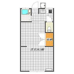 第一保戸田荘[102号室]の間取り