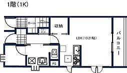 YKハウス研究学園[1階]の間取り