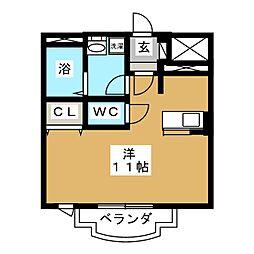 ソレイユ上杉[3階]の間取り