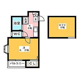 ピュア呉服町[2階]の間取り