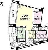 和室6畳 LDK約30畳 サービスルーム約5.9畳