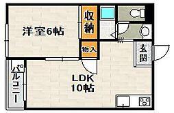 秀明ハイツII[108号室]の間取り
