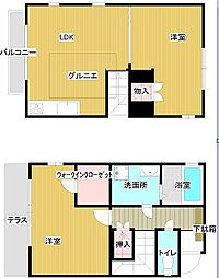[テラスハウス] 東京都三鷹市新川6丁目 の賃貸【東京都 / 三鷹市】の間取り