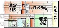 ルネッサンス宮ノ尾I[103号室]の間取り