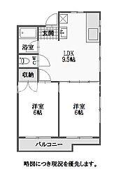 徳島県徳島市佐古三番町の賃貸マンションの間取り