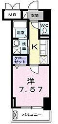 クラシェス新長田[6階]の間取り