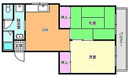 LaCaSa(ラカーサ)駒川中野[2階]の間取り