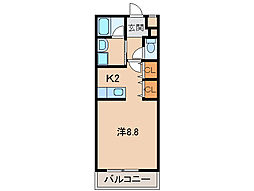 M ディアマンテ[2階]の間取り