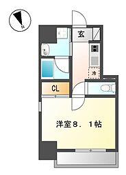 愛知県名古屋市西区花の木2丁目の賃貸マンションの間取り