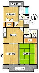 椿峰ロイヤルガーデン[2階]の間取り