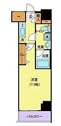 京成本線 青砥駅 徒歩4分の賃貸マンション 13階1Kの間取り