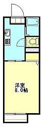 コーポ竹崎[201号室]の間取り