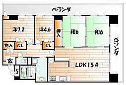 ホワイトキャッスル諏訪[8階]の間取り