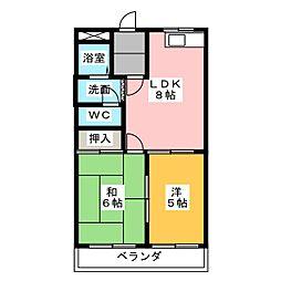 メゾンオクムラ[3階]の間取り