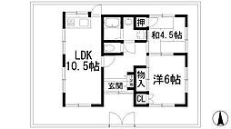 [一戸建] 兵庫県西宮市段上町2丁目 の賃貸【/】の間取り