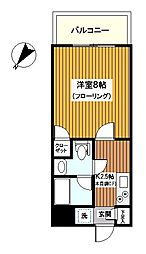 神奈川県横浜市南区吉野町4丁目の賃貸マンションの間取り