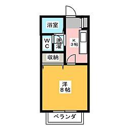 サン・friends桃山[1階]の間取り
