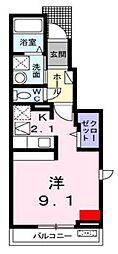 愛媛県松山市枝松2丁目の賃貸アパートの間取り