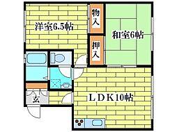 ホマレマンションD[1階]の間取り