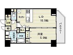 アドバンス大阪城レガーレ[15階]の間取り