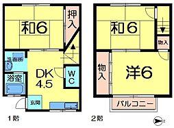 [テラスハウス] 奈良県奈良市学園朝日町 の賃貸【/】の間取り