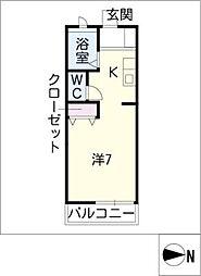 青柳ヒルズ[2階]の間取り