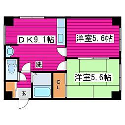 北海道札幌市東区北四十四条東15丁目の賃貸マンションの間取り