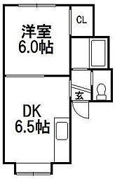 センチュリー21B[1階]の間取り