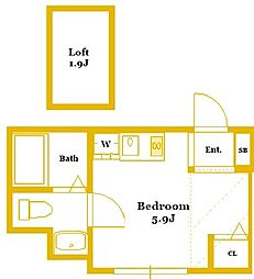 プランドール三ツ沢[2階]の間取り
