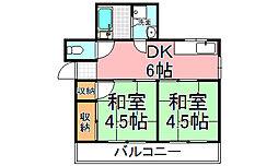 マンション向陽[3階]の間取り