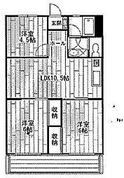 昭和コーポ深谷[3階]の間取り