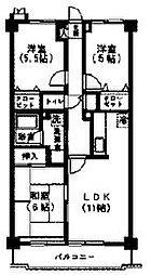 セラヴィ上宿[2階]の間取り