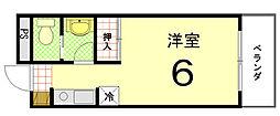 大徳寺温泉マンション[203号室]の間取り