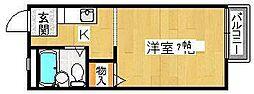 エクセルガーデン堺[1階]の間取り