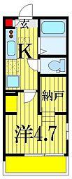 千葉県船橋市前原西3丁目の賃貸アパートの間取り