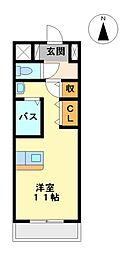 エルミタージュ名駅西[7階]の間取り