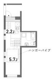 東京都新宿区細工町の賃貸マンションの間取り