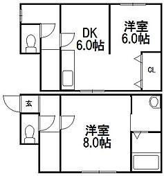 [一戸建] 北海道札幌市手稲区星置三条5丁目 の賃貸【/】の間取り