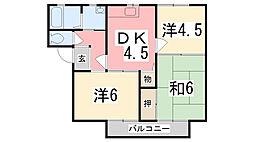 マインドハイツ辻井A[201号室]の間取り