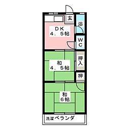 第1トミエマンション[2階]の間取り