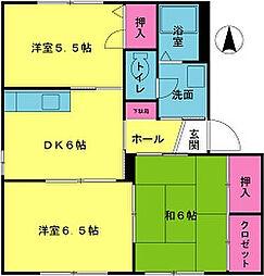 エコーズユタカ[C102号室]の間取り