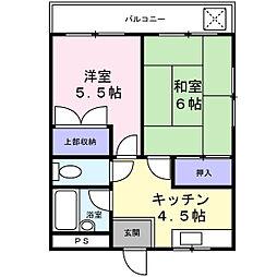 第2中村マンション[4階]の間取り