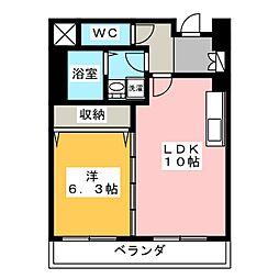 ことぶきパールコート[6階]の間取り